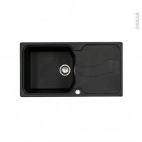 Evier de cuisine - SORRENTO - Granit noir - 1 grand bac égouttoir - à encastrer - ASTRACAST