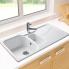 #Evier SORRENTO - Granit blanc - 1 bac 1/2 égouttoir - à encastrer - ASTRACAST