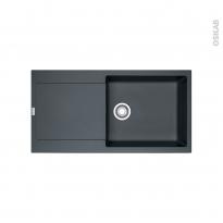 Evier de cuisine - MARIS - Granit graphite - 1 grand bac égouttoir - à encastrer - FRANKE