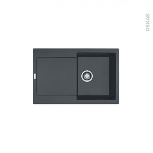 Evier de cuisine - MARIS - Granit noir - 1 bac égouttoir - à encastrer - FRANKE