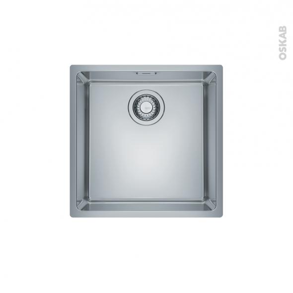 Evier de cuisine - MARIS - Inox lisse - 1 cuve carrée 44 x 44 cm - sous plan - FRANKE