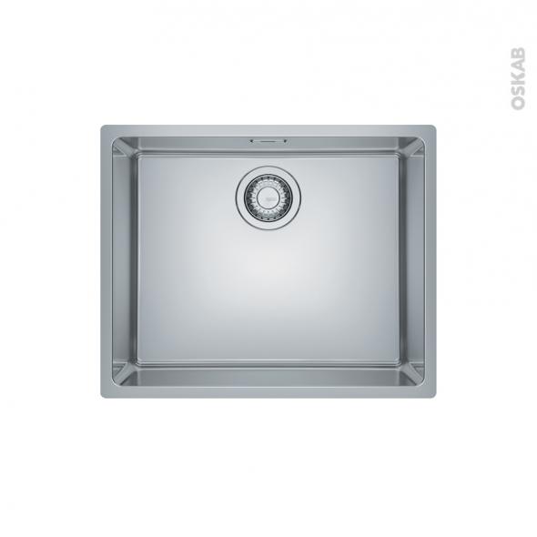 Evier de cuisine - MARIS - Inox lisse - 1 cuve carrée 54 x 44 cm - sous plan - FRANKE