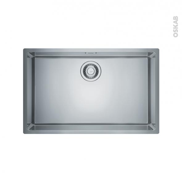 Evier de cuisine - MARIS - Inox lisse - 1 cuve carrée 74 x 44 cm - sous plan - FRANKE
