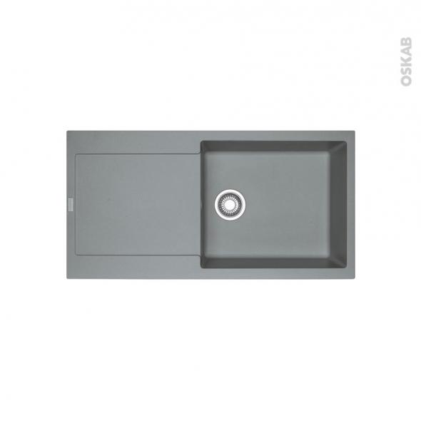 Evier de cuisine - MARIS - Granit stone - 1 grand bac égouttoir - à encastrer - FRANKE