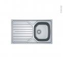 Evier de cuisine - RENO - Inox lisse - 1 bac égouttoir - à encastrer - FRANKE