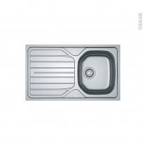 Evier de cuisine - RENO - Inox antirayures - 1 bac égouttoir - à encastrer - FRANKE