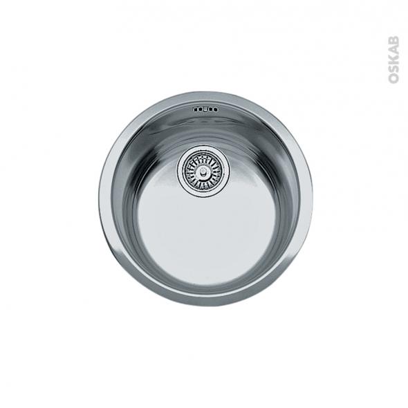 Evier de cuisine - ROTONDO - Inox lisse - 1 cuve ronde 44 cm - sous plan - FRANKE