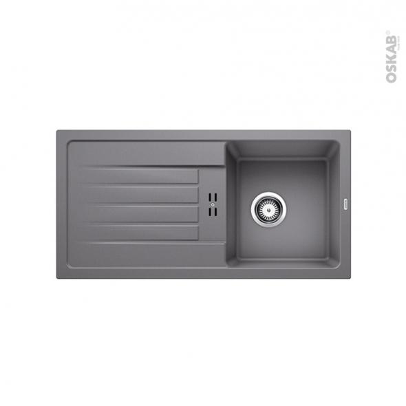 Evier de cuisine - FAVUM 45S - Granit gris alumetallic - 1 bac égouttoir - à encastrer - BLANCO