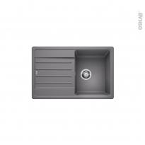 Evier de cuisine - LEGRA 45S - Granit gris alumetallic - 1 bac égouttoir - à encastrer - BLANCO