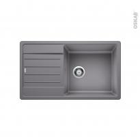 Evier de cuisine - LEGRA XL 6S - Granit gris alumetallic - 1 grand bac égouttoir - à encastrer - BLANCO