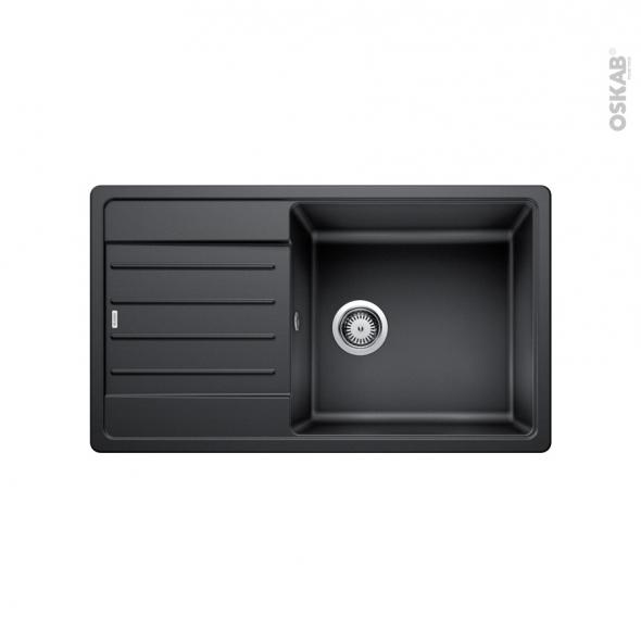 Evier de cuisine - LEGRA XL 6S - Granit graphite - 1 grand bac égouttoir - à encastrer - BLANCO