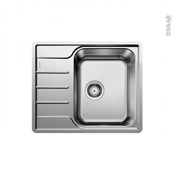 Evier de cuisine - LEMIS 45 S-IF Mini - Inox brossé - 1 bac 1/2 égouttoir - à encastrer affleurant - BLANCO