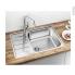 #Evier de cuisine - LEMIS XL 6S-IF Compact - Inox brossé - 1 grand bac 1/2 égouttoir - à encastrer affleurant - BLANCO
