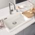 #Evier de cuisine - PALONA 6 - Céramique blanc - 1 cuve carrée 61,50 x 51 cm - à encastrer - BLANCO