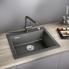 #Evier de cuisine - PALONA 6 - Céramique gris anthracite - 1 cuve carrée  61,50 x 51 cm - à encastrer - BLANCO