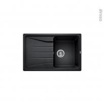 Evier de cuisine - SONA 45S - Granit noir anthracite - 1 bac égouttoir - à encastrer - BLANCO