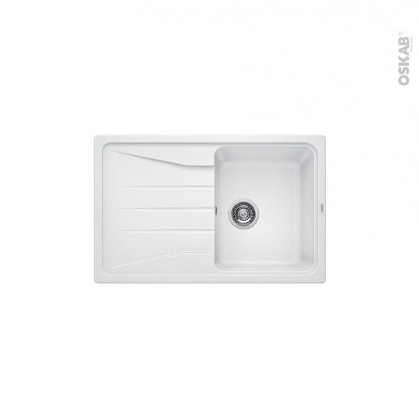 Evier de cuisine - SONA 45S - Granit blanc - 1 bac égouttoir - à encastrer - BLANCO