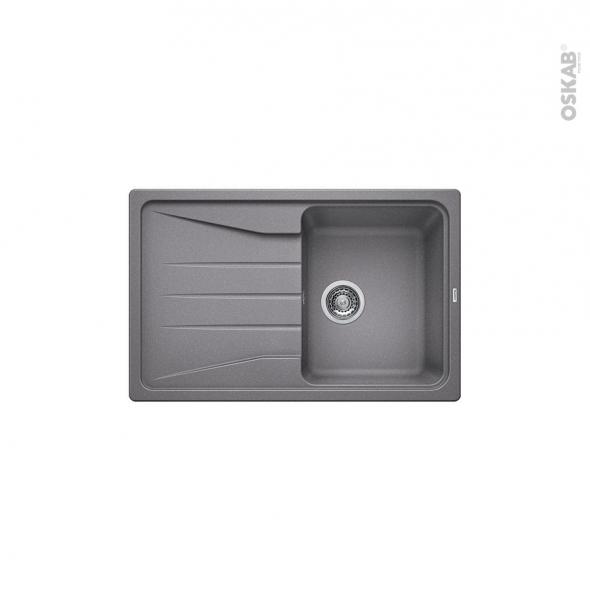 Evier de cuisine - SONA 45S - Granit gris allumatic - 1 bac égouttoir - à encastrer - BLANCO