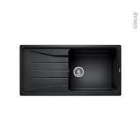 Evier de cuisine - SONA XL 6S - Granit noir anthracite - 1 grand bac égouttoir - à encastrer - BLANCO