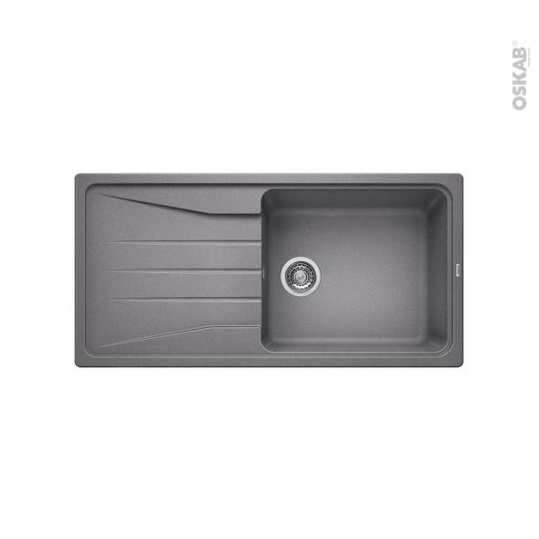 Evier de cuisine - SONA XL 6S - Granit gris allumatic - 1 grand bac égouttoir - à encastrer - BLANCO
