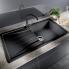 #Evier de cuisine - SONA XL 6S - Granit blanc - 1 grand bac égouttoir - à encastrer - BLANCO