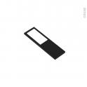 Applique de cuisine - Eclairage LED rectangle - Finition noir brossé - Avec interrupteur