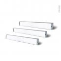 Kit de 3 réglettes de cuisine - Eclairage LED RHEA - L52 cm