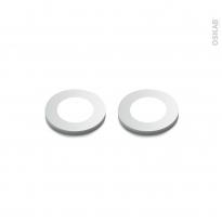 Kit de 2 spots de cuisine - Eclairage LED rond - Finition gris métallique