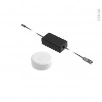 Kit interrupteur sans fil - rond - finition blanche