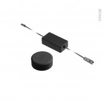 Kit interrupteur sans fil - rond - finition noire