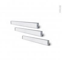 Kit de 3 réglettes de cuisine - Eclairage LED RHEA - L37 cm