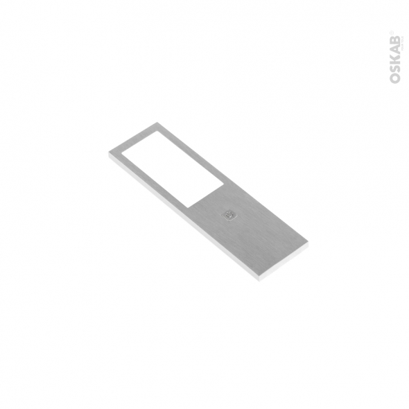 Applique de cuisine - Eclairage LED rectangle - Finition acier brossé - Avec interrupteur