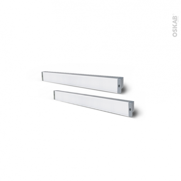 Kit de 2 réglettes de cuisine - Eclairage LED RHEA - L37 cm