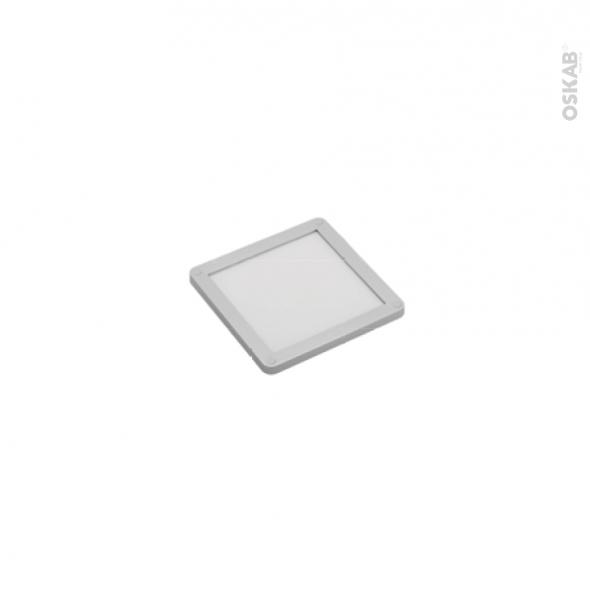 Spot de cuisine - Eclairage LED carré - Finition gris métallique
