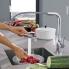 #Robinet Nouvel ESSENCE - Mitigeur cuisine - A douchette - Chromé - GROHE