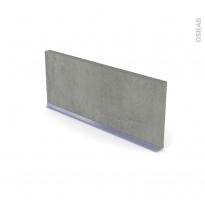 Plinthe de cuisine - FAKTO Béton - avec joint d'étanchéité - L220xH14,4