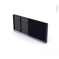 Plinthe de cuisine - KERIA Noir - avec joint d'étanchéité - L220xH15,4