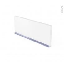 Plinthe de cuisine - PIMA Blanc - avec joint d'étanchéité - L220xH15,4