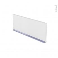 Plinthe de cuisine - GINKO Blanc - avec joint d'étanchéité - L220xH14,4