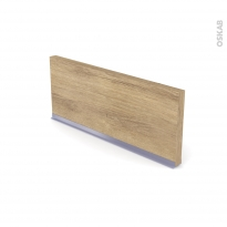 IPOMA Chêne Naturel - plinthe N°35 - Avec joint d'étanchéité - L220xH14,4