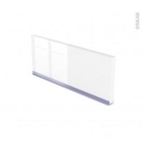 Plinthe de cuisine - IRIS Blanc - avec joint d'étanchéité - L220xH15,5
