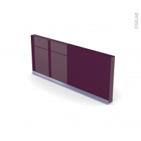 Plinthe de cuisine - KERIA Aubergine - avec joint d'étanchéité - L220xH15,4
