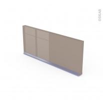 Plinthe de cuisine - KERIA Moka - avec joint d'étanchéité - L220xH14,4