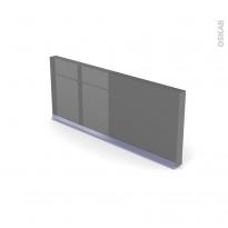 Plinthe de cuisine - STECIA Gris - avec joint d'étanchéité - L220xH14,4