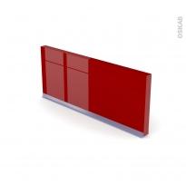 Plinthe de cuisine - STECIA Rouge - avec joint d'étanchéité - L220xH14,4