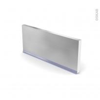 STILO Inox - plinthe N°35 - Avec joint d'étanchéité - L220xH14,4
