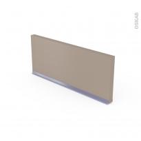 Plinthe de cuisine - GINKO Taupe - Avec joint d'étanchéité - L220xH15.4 cm