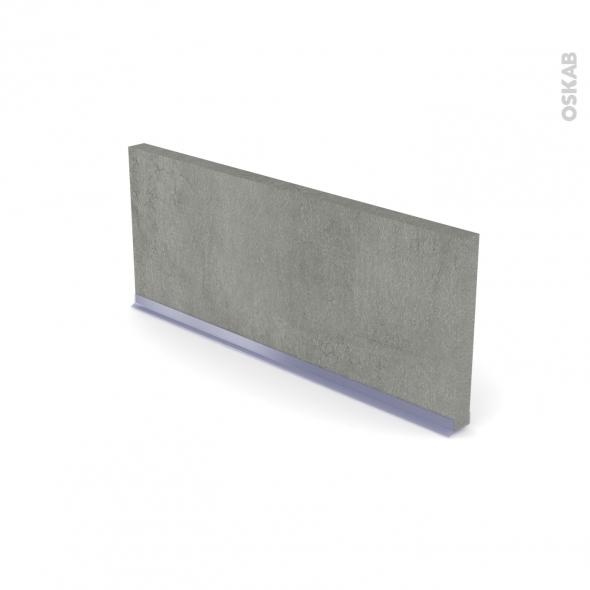 Plinthe de cuisine - FAKTO Béton - avec joint d'étanchéité - L220xH15,4