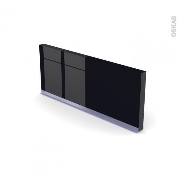 KERIA Noir - Rénovation 18 - plinthe N°35 - Avec joint d'étanchéité - L220xH14,4