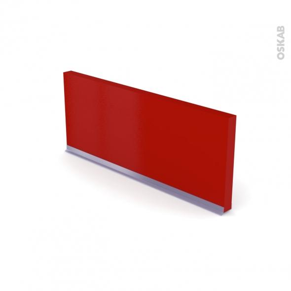 GINKO Rouge - plinthe N°35 - Avec joint d'étanchéité - L220xH14.4